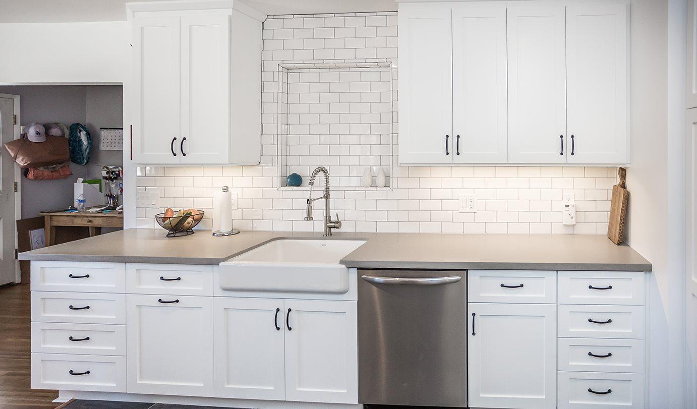 Custom Built Cabinets in White